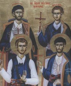 Cretan Martyrs- Look their story up. Byzantine Icons, Byzantine Art, Orthodox Christianity, Orthodox Icons, Crete, Little Sisters, Saints, Religion, Spirituality