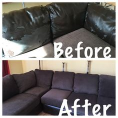 Lovely How To Reupholster An Attached Couch Cushion | Re Doing It All! | Pinterest  | Upholstery, DIY Furniture And Reupholster Couch
