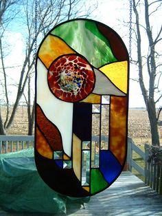 Stained Glass Original Abstract Panel by islandglass1 on Etsy, $175.00