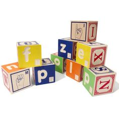 Braille ABC Blocks, $34, now featured on Fab.