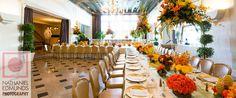 Orange and Yellow Wedding for Owner of McNamara Florist. Florals out of this World! Photo Cred: @nateANDtiffany