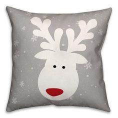 The Holiday Aisle Cute Deer Pillow Christmas Cushion Covers, Christmas Cushions, Christmas Sewing, Felt Christmas, Christmas Projects, Holiday Crafts, Diy Pillows, Throw Pillows, Deer Pillow