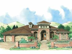 Eplans Italianate House Plan - Contemporary Southwestern Home - 2908 Square Feet and 4 Bedrooms from Eplans - House Plan Code HWEPL10344