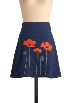 Planting Poppies Skirt