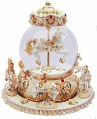 Fine Porcelain Carousel Horse Musical Figurine - Google Search