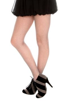 Silver Sparkle Fishnet Tights