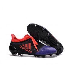 Acheter Homme - Adidas X 16+ Purechaos FG/AG Crampons Noir Violet Orange pas cher en ligne 100,00€ sur http://cramponsdefootdiscount.com