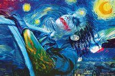 Starry Joker Night by Vartan Garnikyan. (Batman)