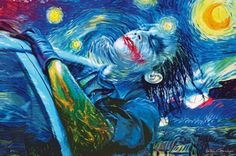 Starry Joker Night by Vartan Garnikyan. (Batman)