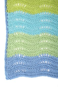 Cool Breeze Baby Ripple, free pattern by Ann Regis for Red Heart Yarns.  Instruction video by Mikey of the Crochet Crowd also available, link on Ravelry page.  .  . . . .   ღTrish W ~ http://www.pinterest.com/trishw/  . . . .  #crochet #afghan #blanket #throw