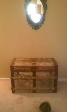 Antique Old Trunk-I like the ones with the flat tops.