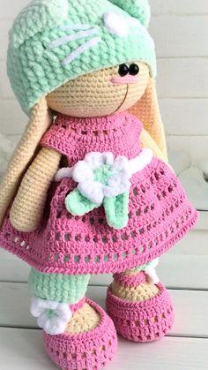 Crochet Animal Patterns, Crochet Doll Pattern, Crochet Dolls, Amigurumi Toys, Amigurumi Patterns, Doll Patterns, Crochet Basics, Crochet For Beginners, Handmade Ideas