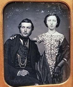 Handsome guy, with rail-thin young woman Vintage Photos Women, Vintage Couples, Vintage Pictures, Vintage Photographs, Old Pictures, Vintage Images, Old Photos, Tintype Photos, Old Portraits