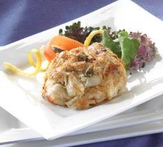 Lemon Caper Crab Cakes Recipe- Phillips Foods, Inc. Crab Cakes Recipe Best, Crab Cake Recipes, Easy Cake Recipes, Seafood Recipes, Appetizer Recipes, Seafood Dishes, Appetizers, Baltimore Crab Cakes, Food Network Recipes