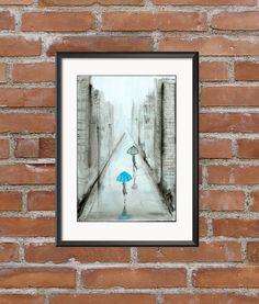 obraz ręcznie malowany 30 x 40 cm, abstrakcja Modern Art, Abstract Art, Minimalist, Black And White, Frame, Blue, Painting, Vintage, Home Decor