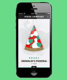 Pizza Compass app - gosh if I had known, I could have really used this thing several times in the last couple years! Iphone Hacks, Iphone 10, Compass App, Just Pizza, Morning Yoga Flow, Dark And Twisty, Best Phone, Ios App, Apple Tv