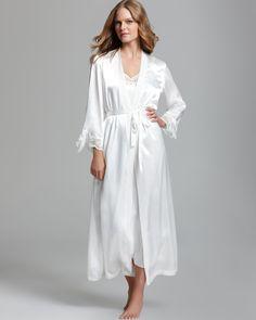 b9070d6cf3 Oscar de la Renta Pink Label Lovely in Lace Long Robe Women - Bloomingdale s