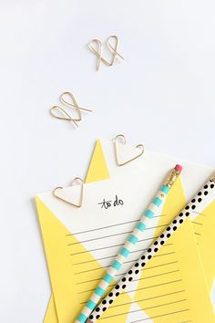 DIY Heart Paperclips