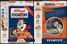 Kellogg's Cereal Boxes back in the 1880's   mexico kellogg s zucaritas frosted flakes cereal box hombres ...