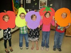 "Gail Lichte's kindergarten class at Loganville Elementary performed the play ""The Very Hungry Caterpillar"" for their parents this past week at school. Pictured from left to right: Makena Jones, Jace Minor, Makenzie McNamara, Caidance Murry, Trystan Book Character Day, Book Character Costumes, Fruit Costumes, Diy Costumes, Science For Kids, Art For Kids, Lion Craft, Fruit Crafts, Kindergarten Class"