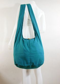 Turquoise Teal Cotton Crossbody Shoulder Hippie Boho Hobo Messenger Bag E-CB16 **** $8.95 USD ****