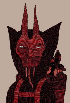 Krampus by Luke Ramsey. I want this over the fireplace.
