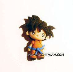 Inspiré de Goku Dragon Ball anime collier fait par AlchemianShop