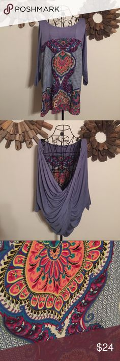 Open Back Top This top is stunning! Can be dressed up or down.  Please feel free to ask questions! Smoke free home. Tops