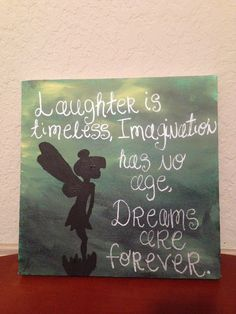 DIY painted canvas. Tinkerbell