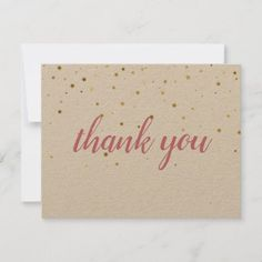 Gold Stars Pink Script Rustic Thank You Discount Loyalty Cards, Gold Envelopes, Photo Thank You Cards, Toned Paper, Gift Certificates, Marketing Materials, Gold Stars, Keep It Cleaner, Holiday Cards