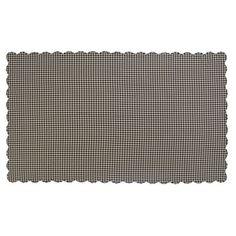 "Black Check Scalloped Table Cloth 60x102"""