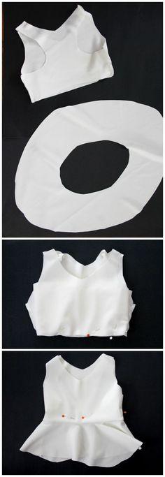 how to sew a peplum bikini top