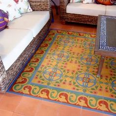 Avente Tile Project: Cement Tile Living Room