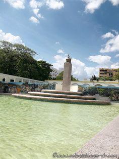 Reflecting pool at Eugenio María de Hostos Park, Santo Domingo.