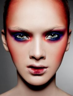 Colorful makeup design. Zinc Magazine.