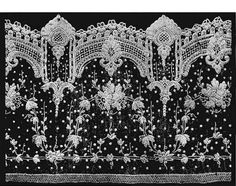 Alençon Lace This, the most elaborate needle-point lace which has ever been produced in France, was first made in about 1665. It takes 25 hours to make one square inch of genuine Alençon lace