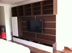 Ikea Besta walnut and white