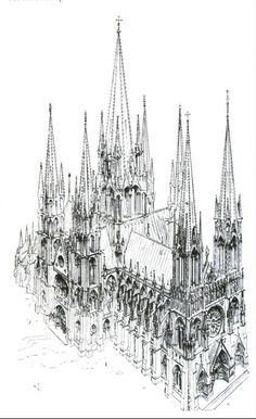 Houses of Parliament (London, England) Pen and ink on