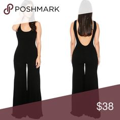 """Black jumpsuit romper One piece Gorgeous, as you can see. --- I am 5'6"""" and the length is good for me, but maybe shorter length for ladies taller.  I recommend to ladies 5'6"""" and under. They run small, I am usually a medium and I fit into the large. (I had a big butt) Reserve your size now. Instagram: @lavishensemble @wordstolivebyapparel --- material: polyester ------ picture is of me in the tan medium- just different color to show the fit Pants Jumpsuits & Rompers"""