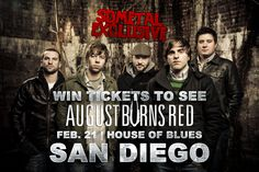 Exclusive: Win Tickets To See 'August Burns Red' In San Diego #sdmetal #metal #music