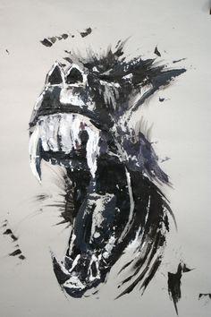 https://flic.kr/p/eLsxBQ | www.academiataure.com |  #art #painting #acrylic #realism #monkey