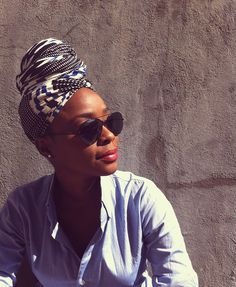 a simple head wrap makes a big impact. and nobody has to know your hair is a mess.