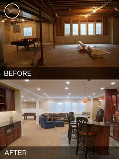 I like this ** Steve & Elaine's Basement Earlier than & After | House Transforming Contractors | Sebring Providers