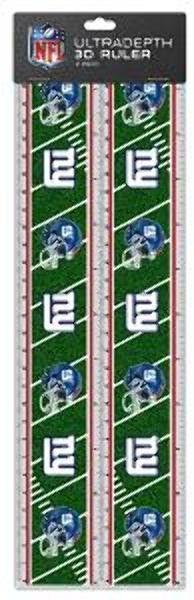 NFL New York Giants 2pk 3-D Ruler Case Pack 72