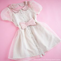 minplume Pink Lolita dress M Ribbon belt Set gyaru Chiffon Tulle Japan fashion…
