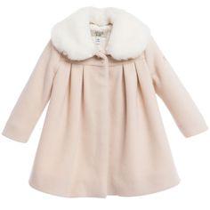 Baby Girls Pink Wool & Cashmere Duffle Coat | Duffle coat, Babies ...
