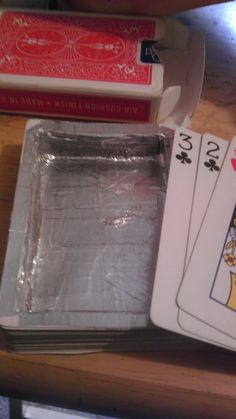 This deck of cards that's hollow enough for small things, like money and ... oregano: