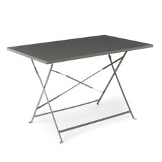 table de jardin pliante bois et métal sohan | places, belle and acacia