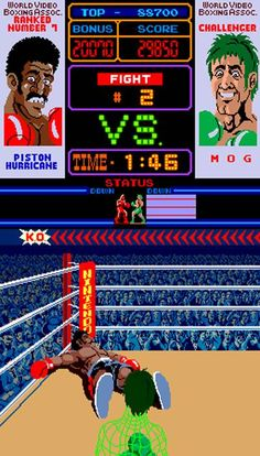 1984 Real-Time - Punch-Out! Evolution Of Video Games, New Video Games, Classic Video Games, Video Game Art, Vintage Video Games, Retro Video Games, Vintage Games, Punch Out Game, Vintage Toys 1960s