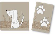 animal footprints  cards dog free printable